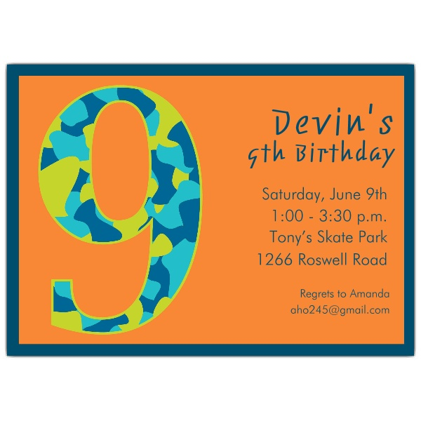 9 year old birthday invitation wording dolanpedia invitations 9th3 filmwisefo