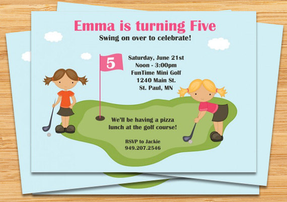 Mini Golf Birthday Party Invitations 6mgpb3cq