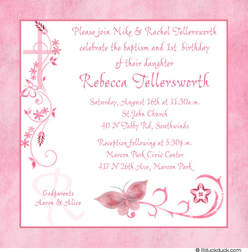 1st Birthday And Baptism Invitations DolanPedia Invitations Template