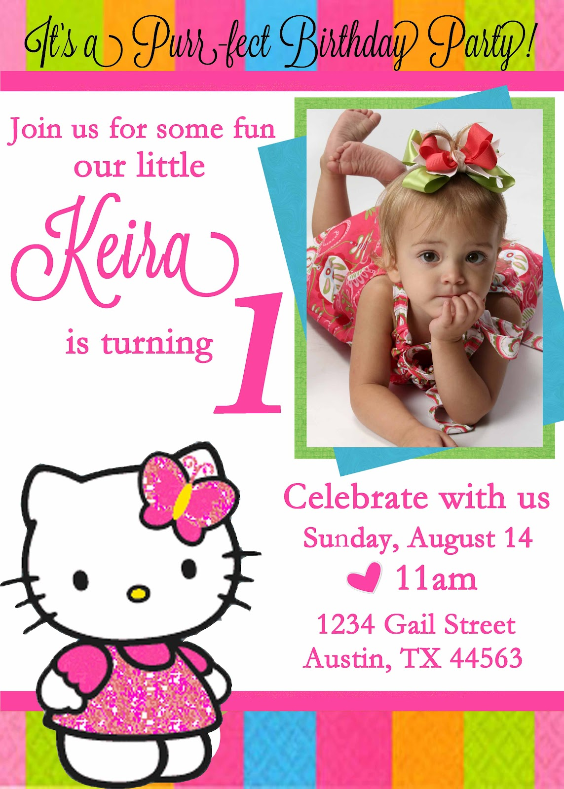 Hello Kitty First2 Thats All For The Birthday Invitations