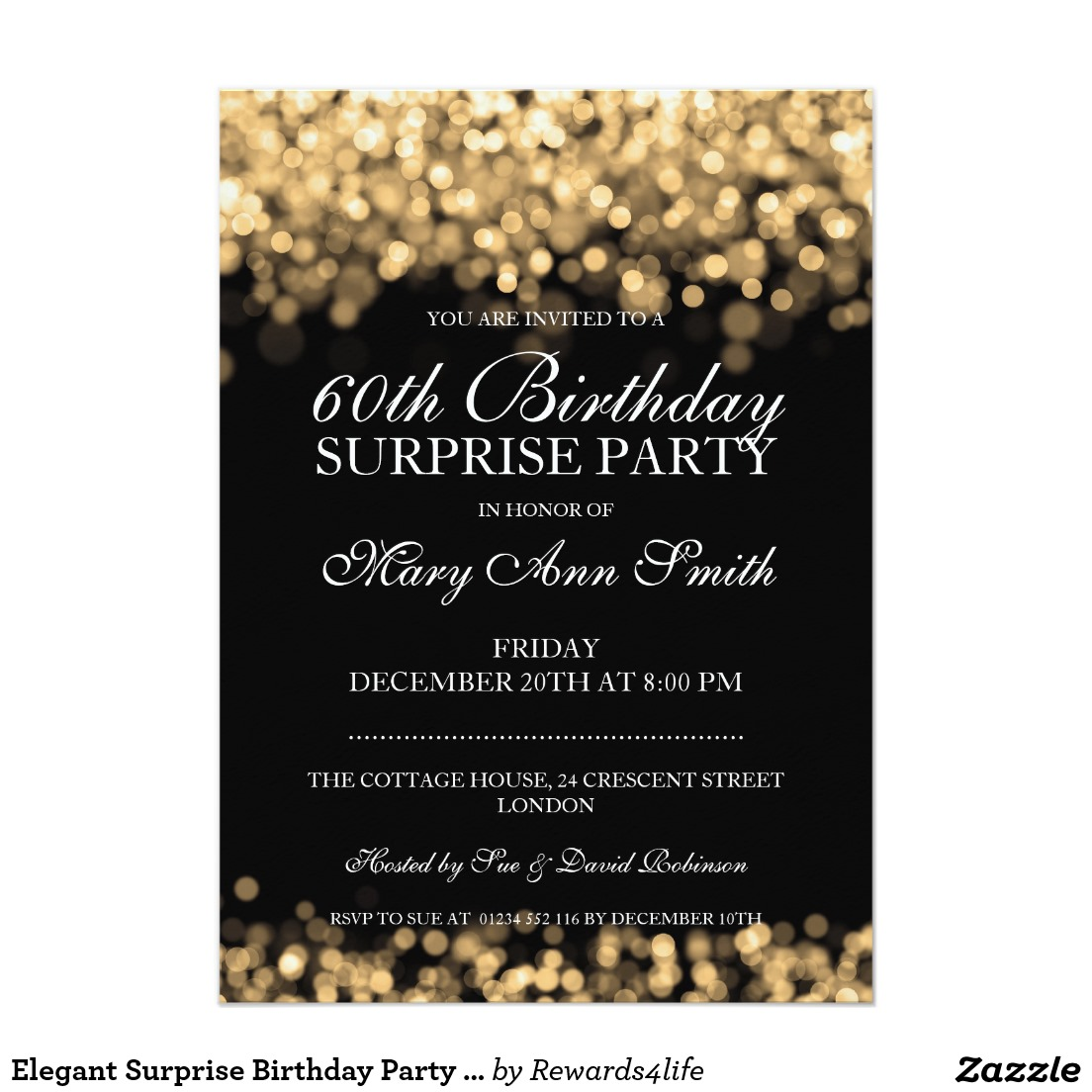 Surprise 60th Birthday Invitation Wording | | DolanPedia Invitations ...