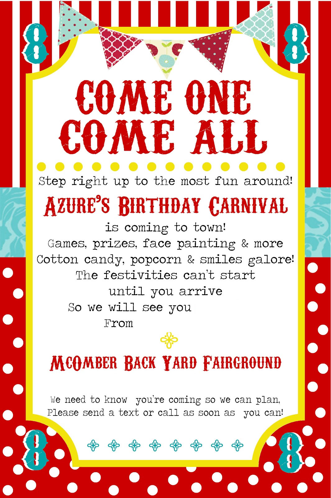 carnival party invitation templates free Hallo – Free Printable Carnival Birthday Invitations