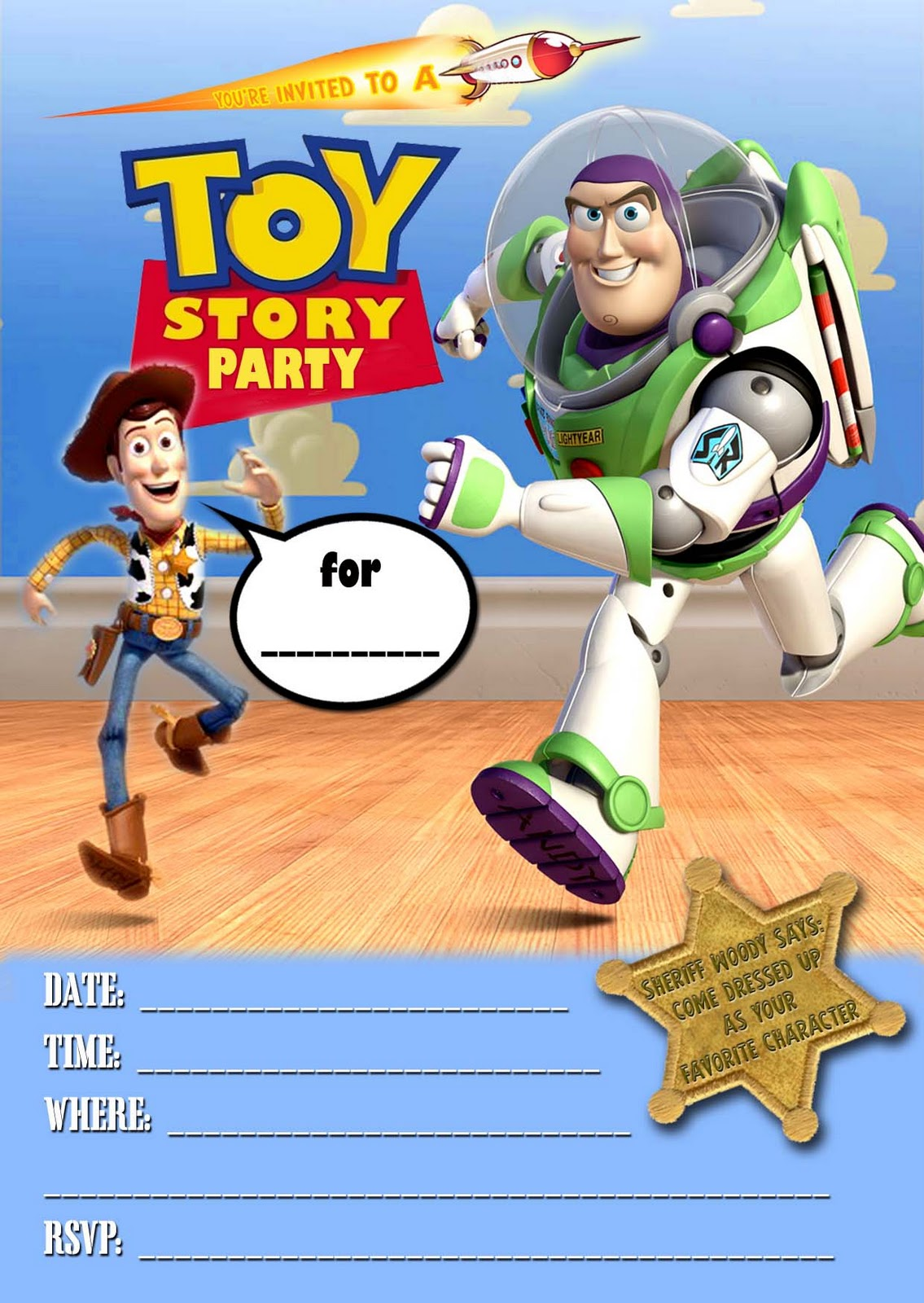 Free Printable Toy Story Invitation Template DolanPedia