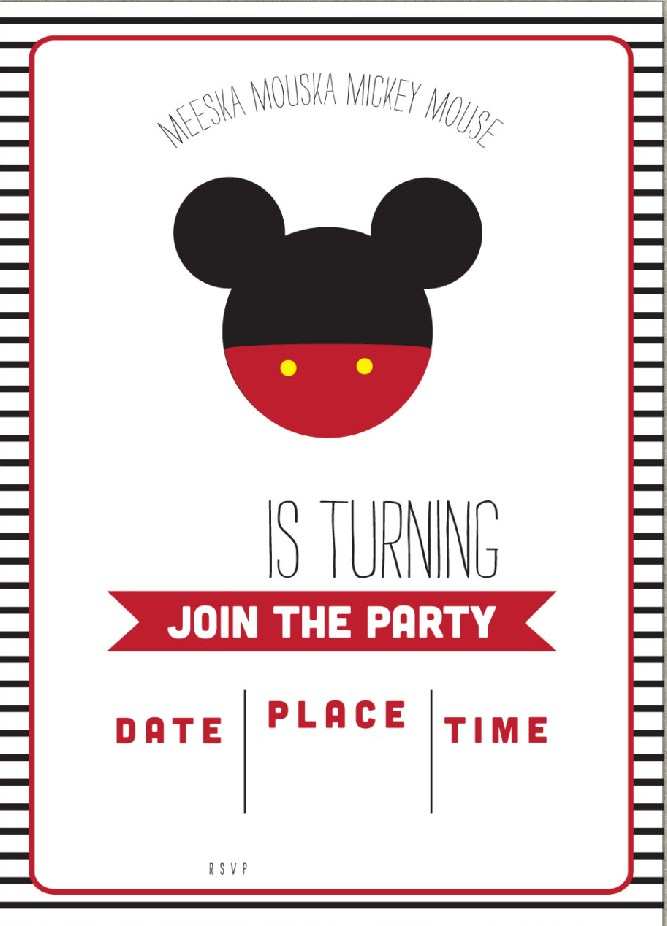 Dynamite image throughout free printable mickey mouse invitations