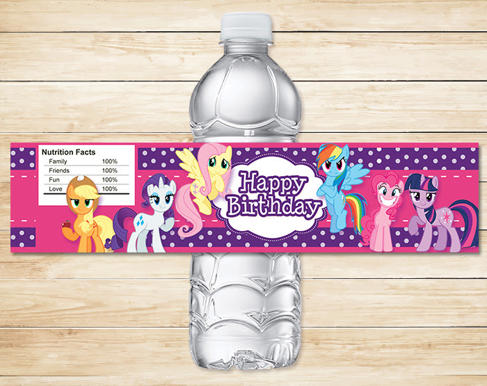 photograph about Free Printable Water Bottle Labels for Birthday titled Absolutely free Printable My Small Pony Bottle Labels  DolanPedia