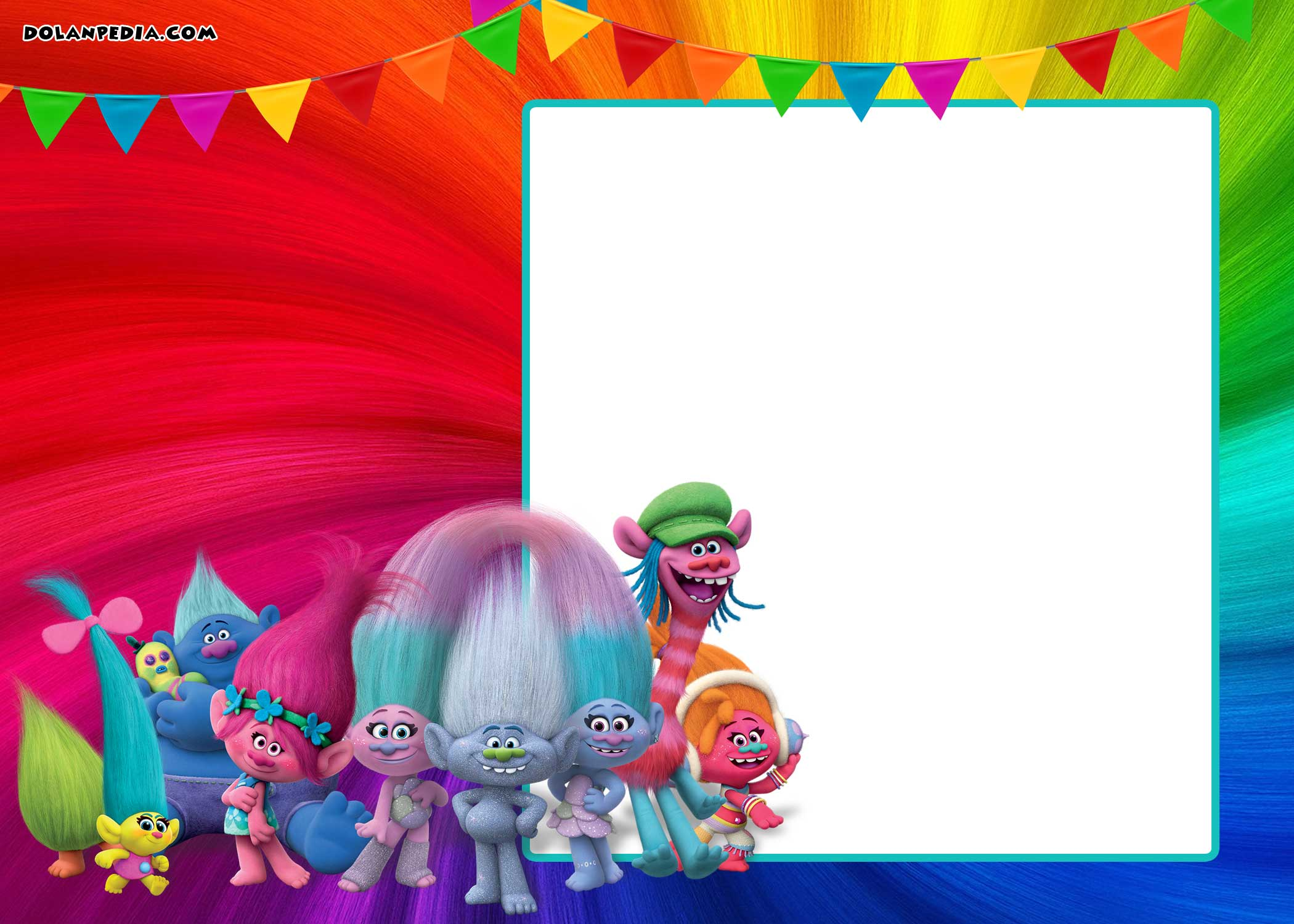 FREE Printable Trolls Invitation Template | | DolanPedia Invitations ...