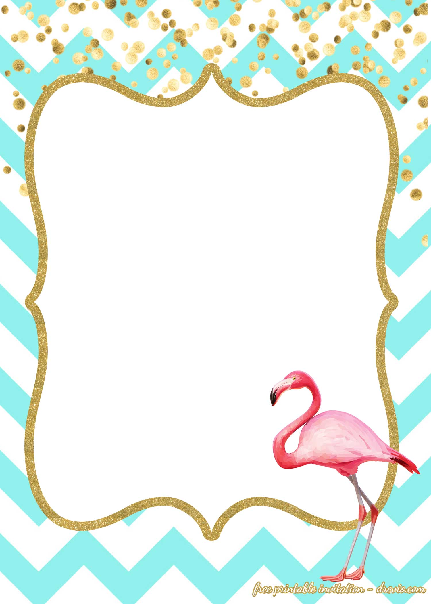 free first birthday invitations flamingo style