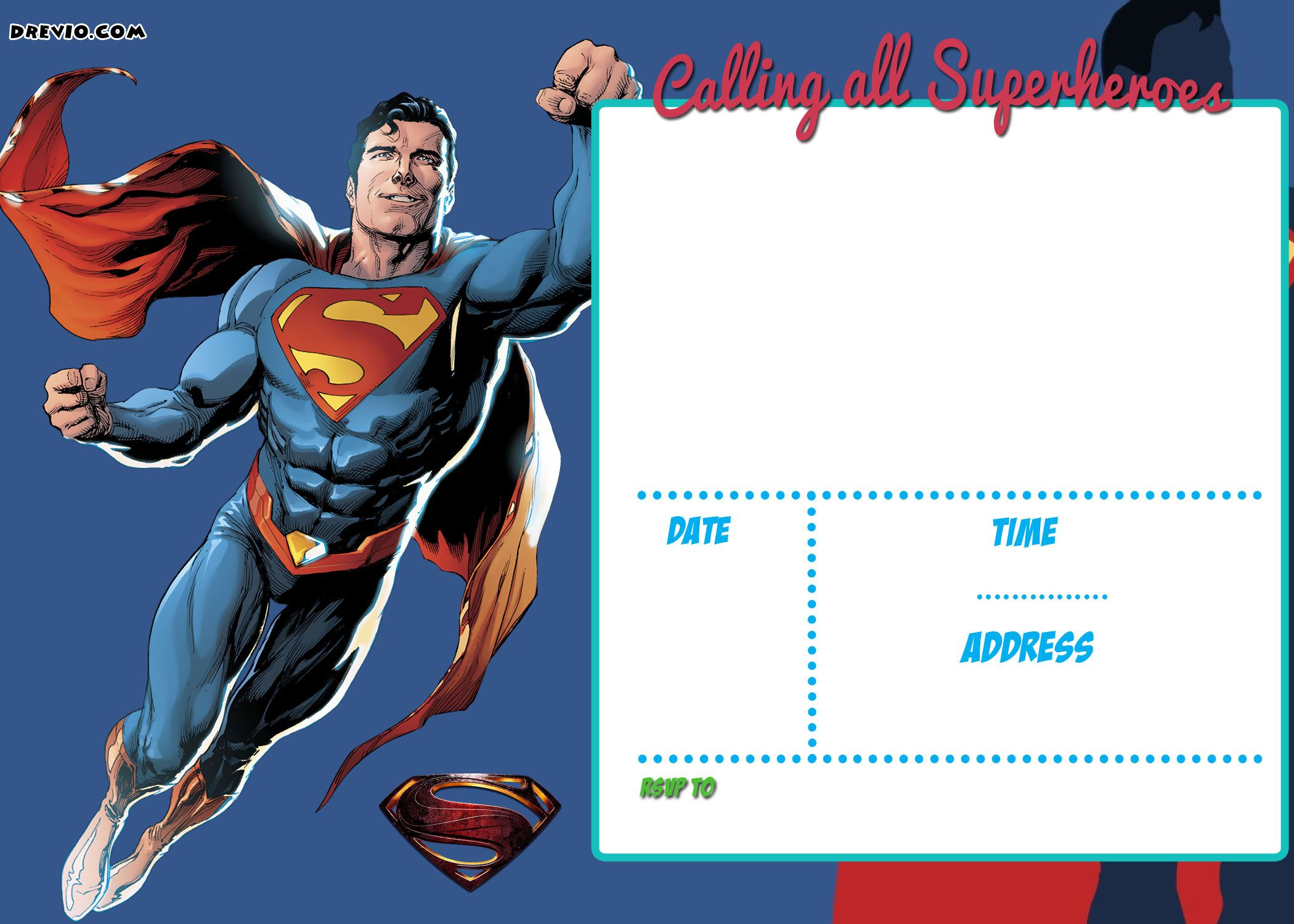 free printable justice league invitation templates  u2013 party