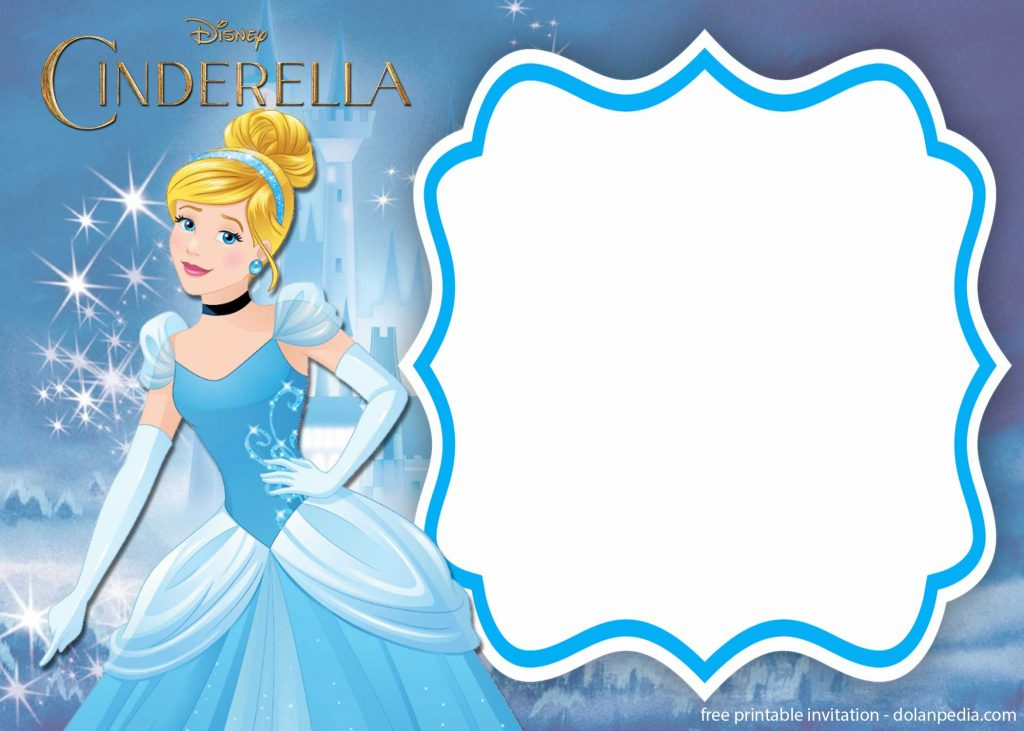 free printable cinderella royal invitation templates
