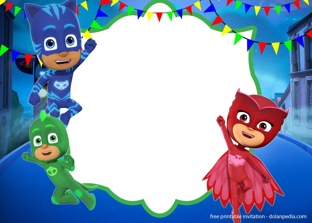FREE PJ Masks Invitation Templates Editable And
