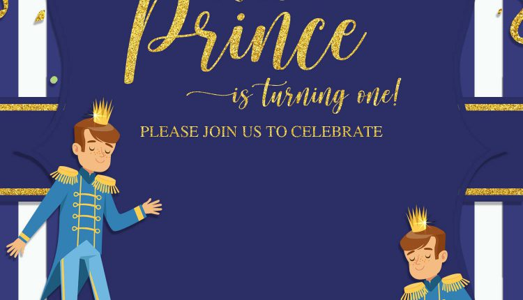 10+ Prince First Birthday Invitation Templates