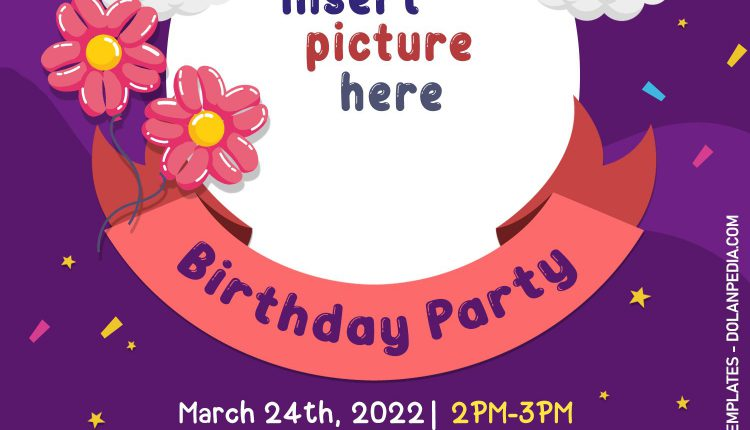 10+ Fun 10+ Children Birthday Invitation Templates