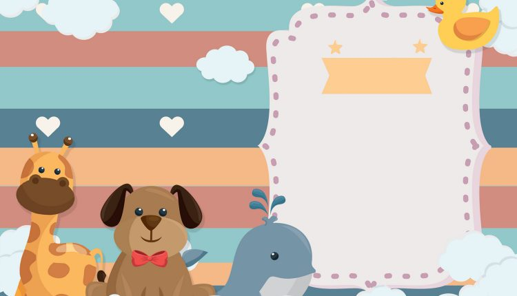 8+ Colorful Baby Animals Themed Birthday Invitation Templates