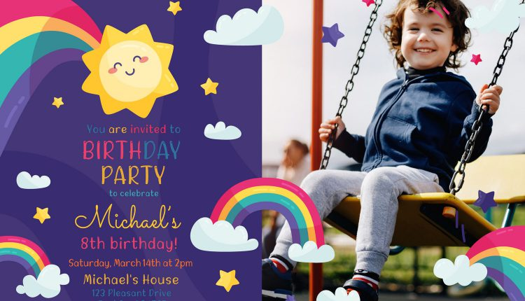 8+ Cute Rainbow Birthday Invitation Templates – Copy