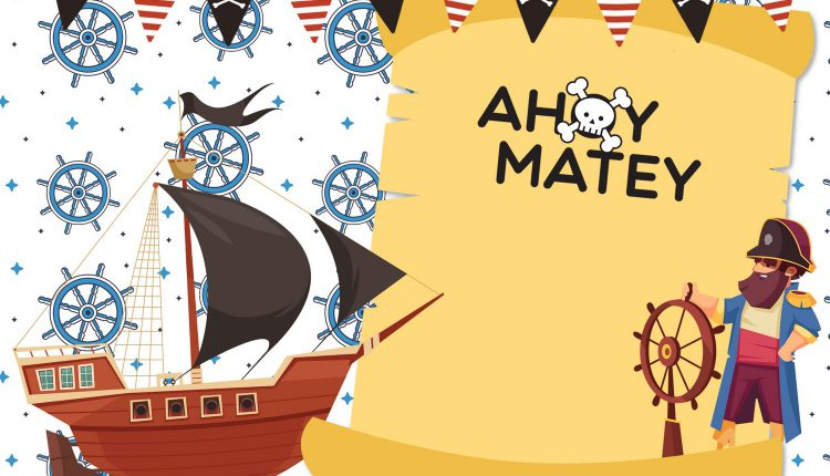 11+ Cute Pirate Birthday Party Invitation Templates For Any Ages